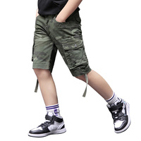 Summer teenagers printed cotton short camouflage lace pants bermuda shorts boys