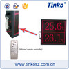 LED Digital Temperature Humidity Display/Monitor With Date-Time Indication for Warehouse/Workshop