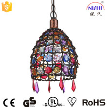 Colorful moroccan pendant light acrylic artistic hanging lamp NS-124047