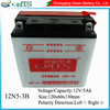 Lead Acid Dry charged Motorbike batteries for starting, lead calcium batteries
