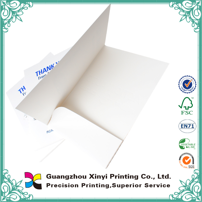 Company office matt lamination with flap CMYK printed 300gsm cardboard fc size paper file folder