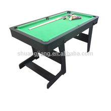 Cheap Price MDF Portable Pool Table , Indoor Billiard Snooker Equipment