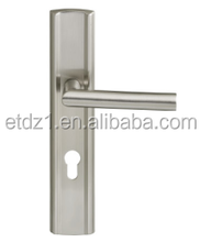 brass single cylinder front door lever handle panel lock ETDL-B036