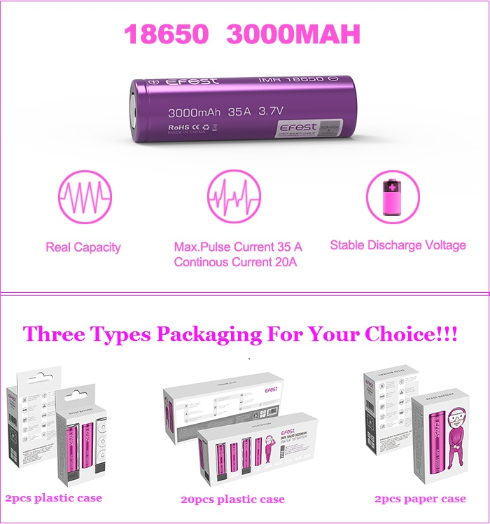 Efest li-ion Battery 18650 Battery Pack 48v 100ah 36v 20ah Lithium ion Battery Pack for Ebike