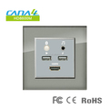 hotel glass media hub panel HD8600M-A mini media socket all in one