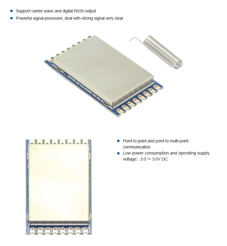 top quality 3000m 22dbm CC1120 ask receiver rf module for wireless sensor networks