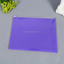 Colorful environmental protection plastic zipper lock file bag waterproof doument bag