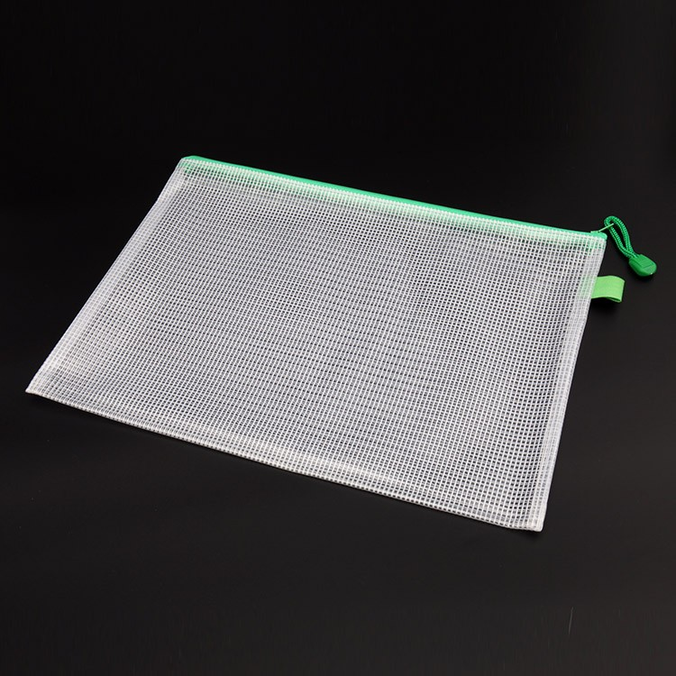 plastic mesh file folder with zipper