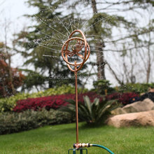 Stainless Steel Watering Decorative Rotating Lawn Garden Irrigation Sprinkler