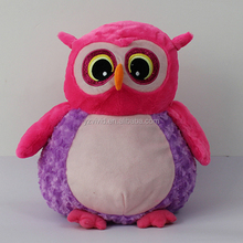 EN71 12mm Clear Green Plastic Safety Owl Animal Eyes Of Stuffed Toy