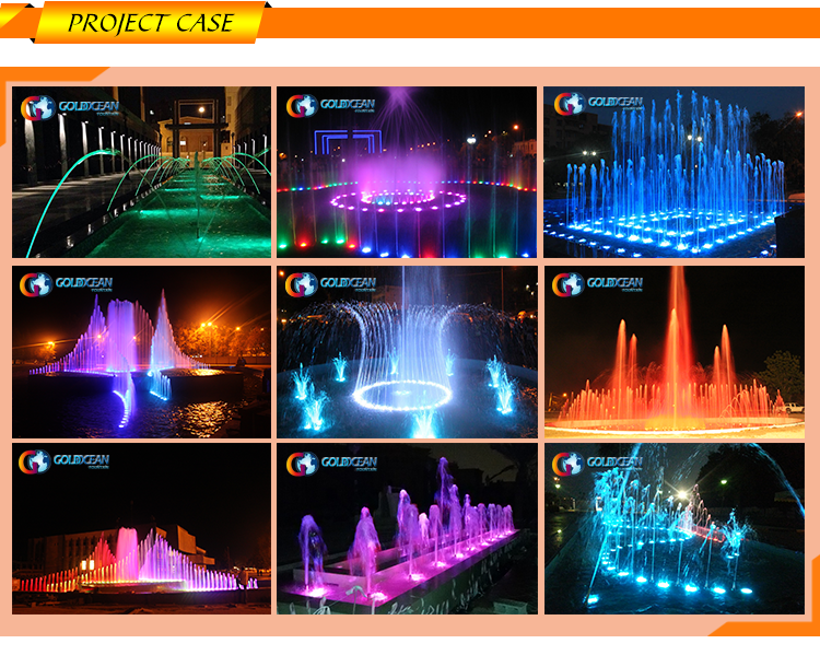 Swimming Pool Led Laminar Water Jet Fountain
