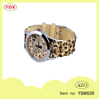 2015 Vogue Watch with leopard zebra print, Silicone Gifts Watch from Yidexin OEM Factory