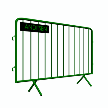 Aluminum crowd control barrier for events