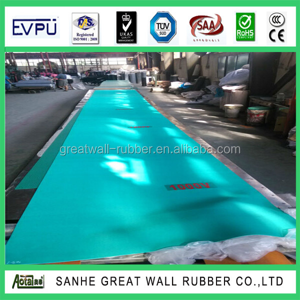 Great Wall 5kv-50k High Voltage Electrical Rubber Sheet With Reach ROHS Certificate Smooth Insulation