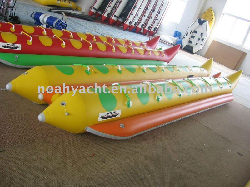 PVC Hull Material and CE Certification yellow banana boats