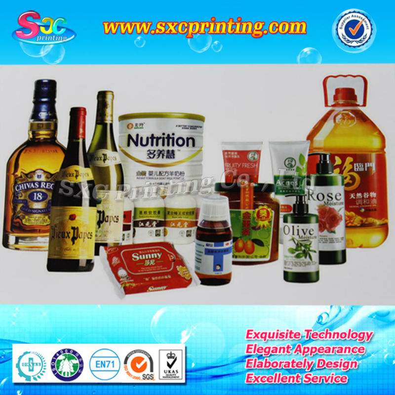 OEM accepted labels for food containers or stick on food label and canned food label