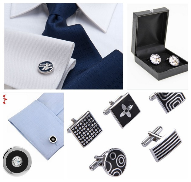 High quality plating making tie clip with gift box