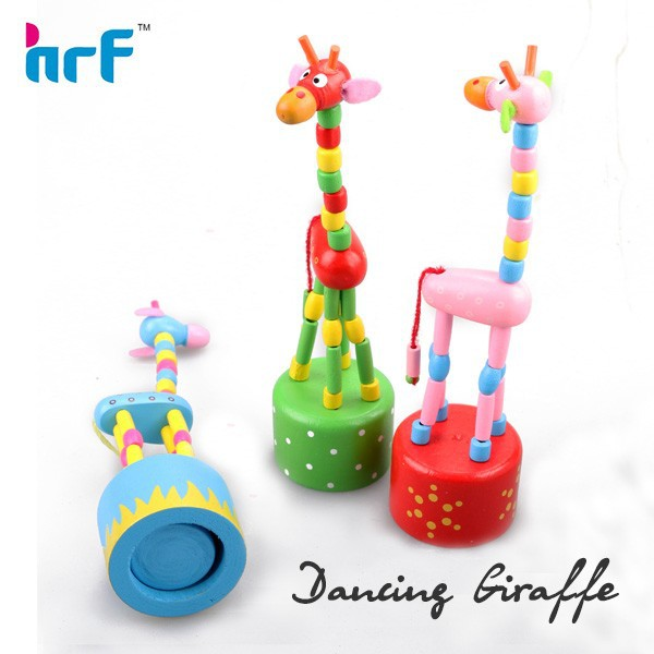colorful dancing giraffe wooden toys