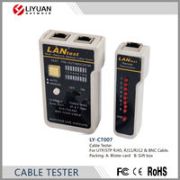 LY-CT007 New RJ45 /RJ11 /Cat5/ Cat6 BNC Cable Network LAN Cable Tester