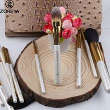 Professional made beauty need private label white 12pcs makeup brushes kit