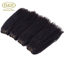 Cheap Good Quality Grade 7a Virgin Brazilian Curly Human Hair Extension For Black Women