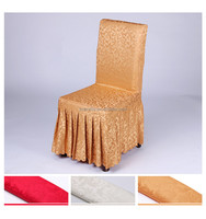 Fashionable Design Banquet Jacquard Cheap Polyester Chair Covers