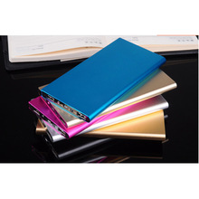 2017 Ultra Slim Metal Power Bank, 8000mAh Dual USB Portable Battery Charger, LED Torch Power Banks for cell phone