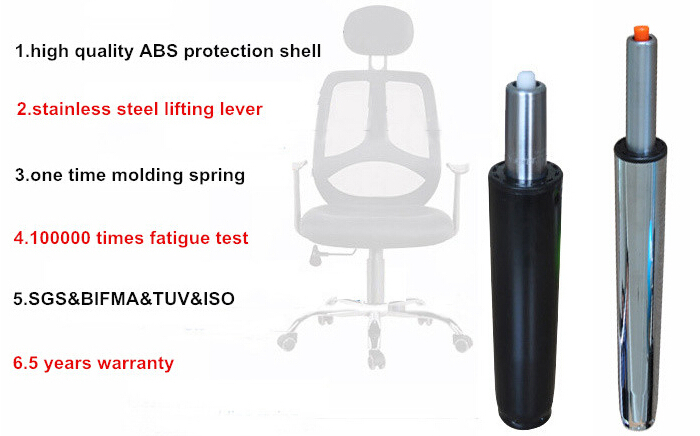 telescopic and rotatable chair air spring