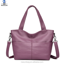 2017 best selling woman pu leather fashion ladies bags soft face tote bag in China