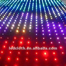 led star stage outdoor light curtain sky video cloth glowing cloth light