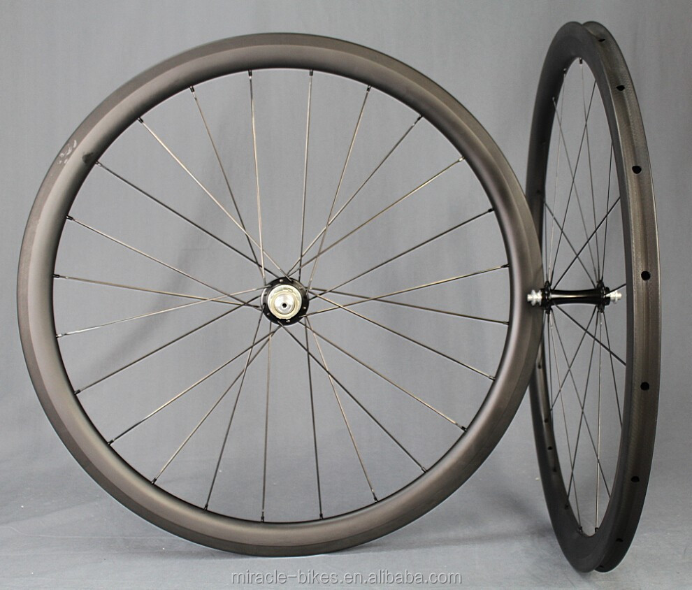 Aero road bike wheelset carbon 40mm/carbon rim,Miracle Bike wheels,high quality wheels carbon road bike