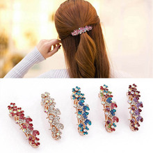 Fashion women's headdress new small spring alloy crystal hair clip