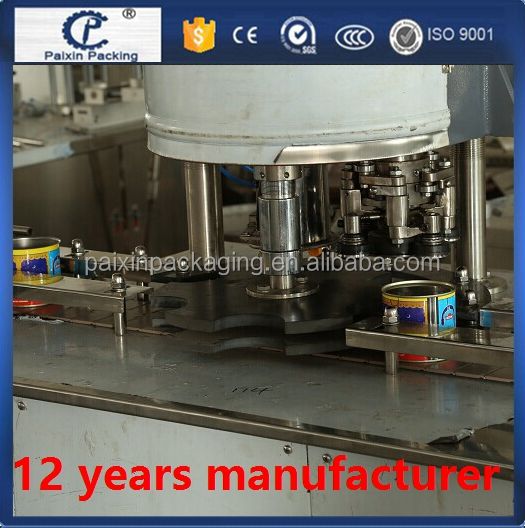 CE standard tin can drinks capping machine Full automatic bottling