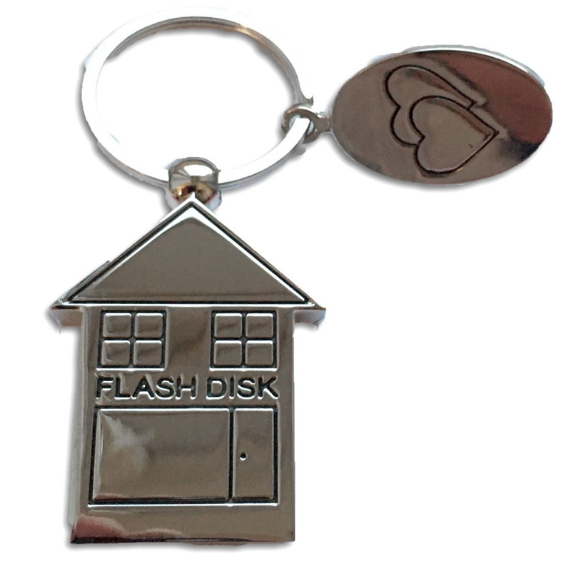Folding Metal House Shaped USB 2.0 8GB USB Flash Drive Memory Stick Fold Storage Stick Pen