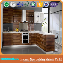 Chinese traditional kitchen cabinet with 3 bin trash bin