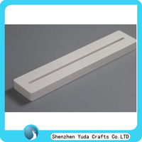 pvc material label base holder, disposable acrylic white thick acrylic base with slot