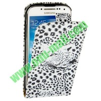Fashion Leopard Pattern Vertical Flip Leather Case for Samsung Galaxy S4 mini / i9190