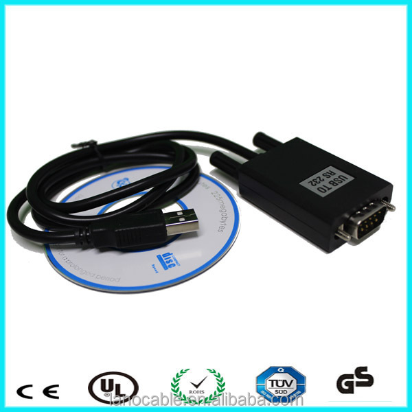 Db9 pin male to usb male null modem serial adapter printer cable