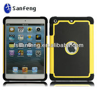 NEW!!! For ipad hybrid case, shockproof for mini ipad case,cellphone case for ipad 2 3 4