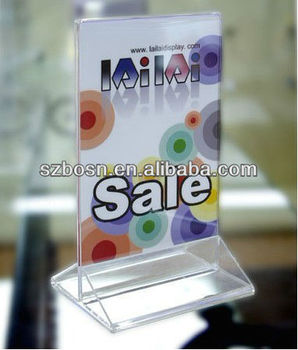 A4 acrylic table tentAcrylic menu holderMenu displayMenu container;