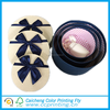 Small round tube bow tie paper gift box for jewelry