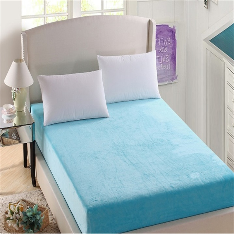 Solid Color Terry Cloth 100% Waterproof Adult Mattress Cover - Jozy Mattress | Jozy.net