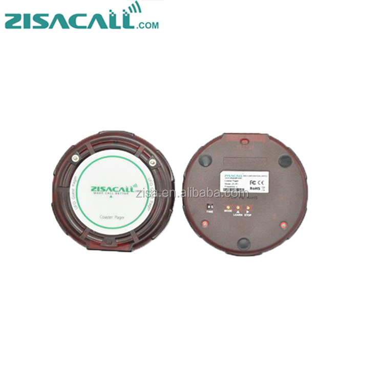 ZISACALL Wireless Coaster Pager System / Guest Paging System / Waiter Calling System