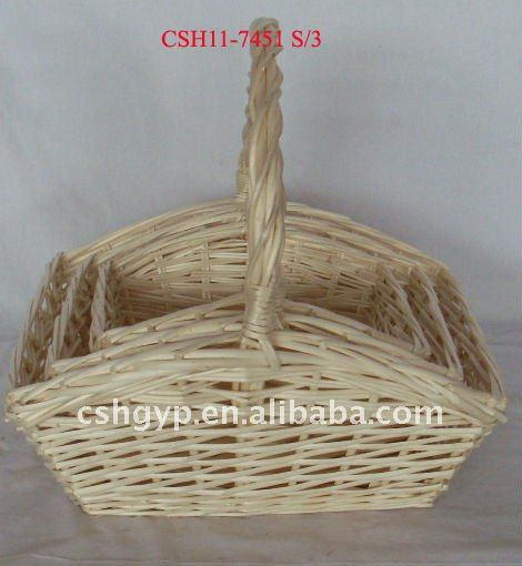 bleached white willow basket for gifts