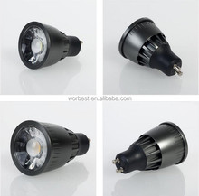 Black 7W Dimmable warm/cool/day light COB LED Spot Light Bulb Down light