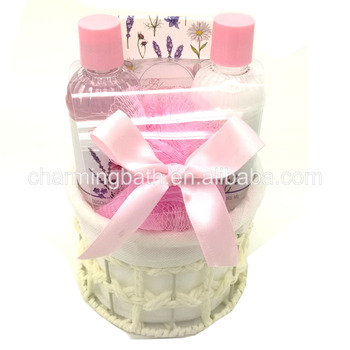 wholesale charming design bath shower gel body lotion spa gift set for bath and body works