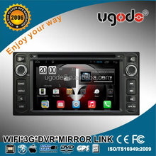 Ugode wholesale 6.2 inch 2 din android car media player for Toyota Corolla 2006