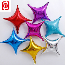 26''Four pointed star falloon plastic balloons foil balloon