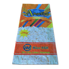Agriculture use 25kg bopp laminated plastic pp woven rice packing bag export Philippines,Dubai