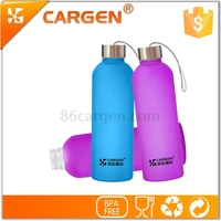 Unbreakable 880ml frosted glass water bottle manufacturer